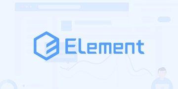 Element - 饿了么团队出品的神级桌面 UI 组件库