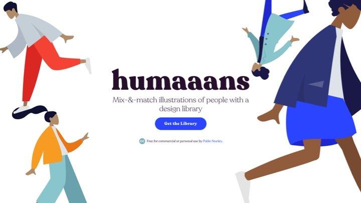 Humaaans - 可DIY的免费商用人物插画库