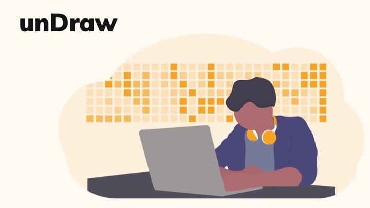 unDraw - App 和网站都在用的矢量插画图库,全都免费商用