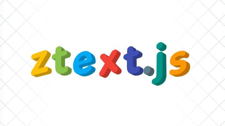 ztext - 简单几行代码创建酷炫 3D 特效文字的开源 JS 库