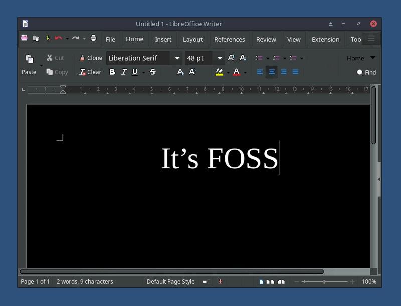 LibreOffice 暗黑模式