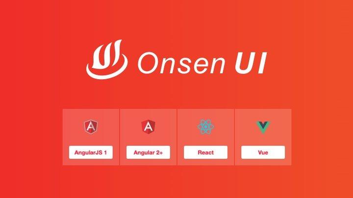 OnsenUI - 专为混合开发/手机 web 应用打造的开源移动端 UI 组件库