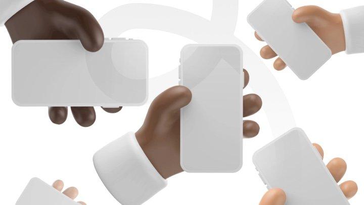 分享一组免费的 3D 卡通 iPhone 12 / iPhone 13 手持模型源文件